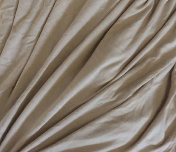 Beige cotton/viscose jersey
