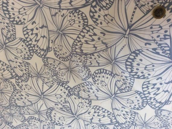 High quality cotton poplin, butterfly print