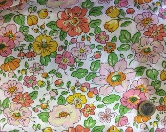 Mat way light, floral Twill cotton fabric