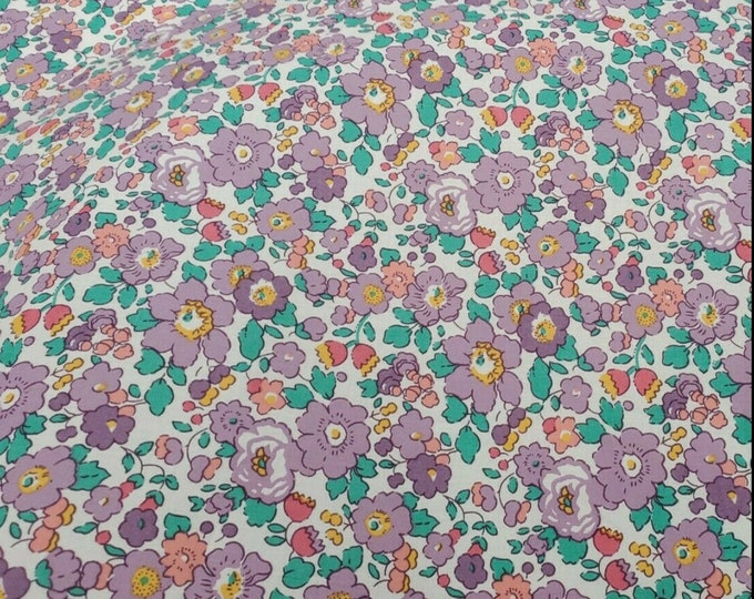Betsy purple, Tana lawn fabric from Liberty of London