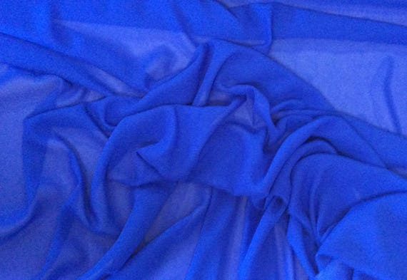 High quality Faux Silk Chiffon. Royal Blue No58