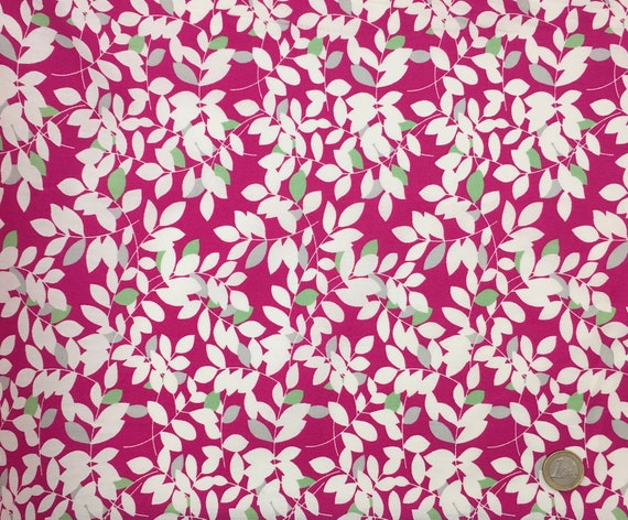 High quality cotton poplin dyed in Japan with foliage print