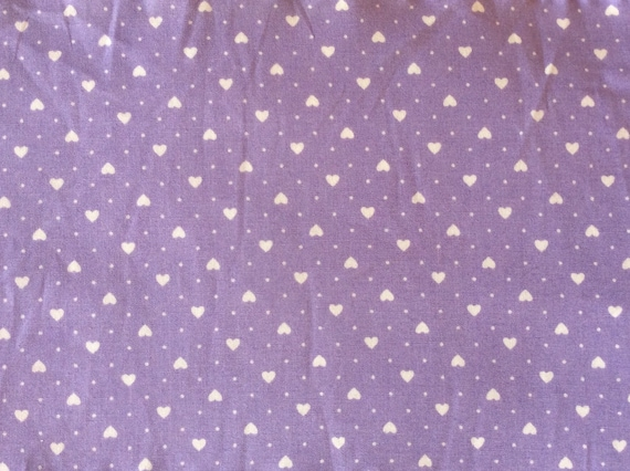 High quality cotton poplin, hearts on violet