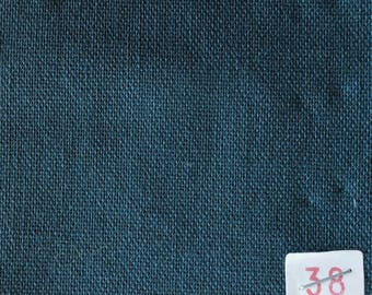 Blue cotton canvas duck no38, perfect for clothing and linens