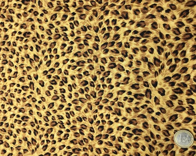 Cotton poplin with beige caramel fur print