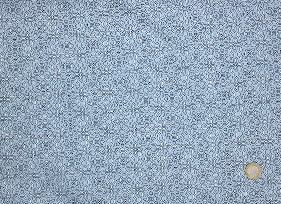High quality cotton poplin dyed in Japan with geometrical print