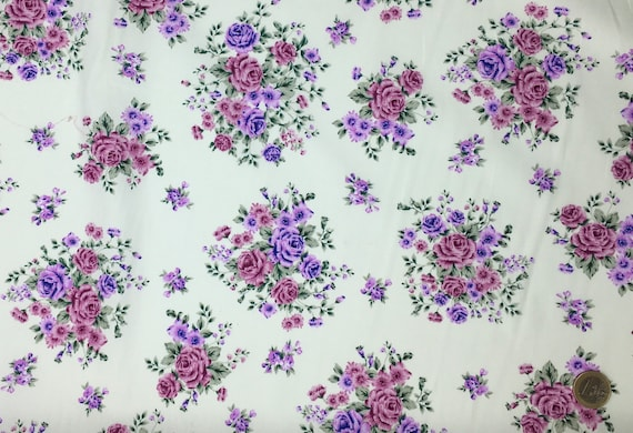 High quality cotton poplin dyed in Japan with vintage flowers