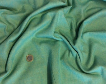 Fabric cotton weave Chevron blue/green way flannel