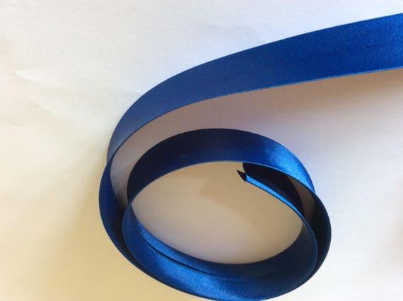 25mm silky sateen bias binding, royal blue no13