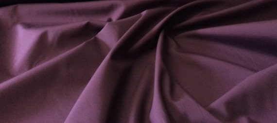 High quality cotton poplin dyed in Japan. eggplant nr68