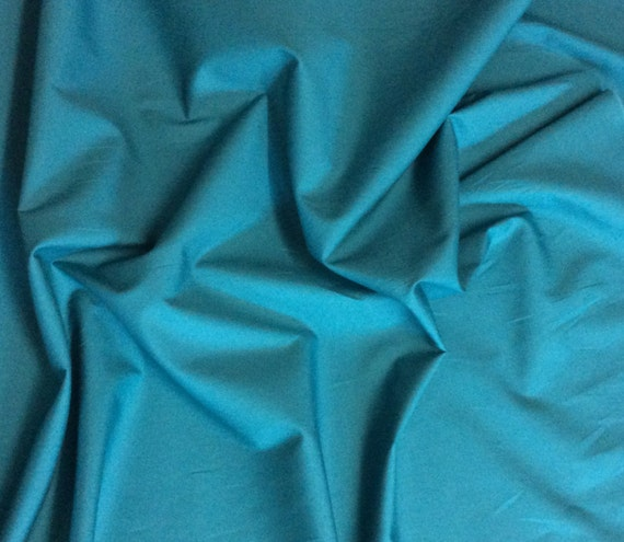 High quality cotton poplin dyed in Japan. Petrol blue no30