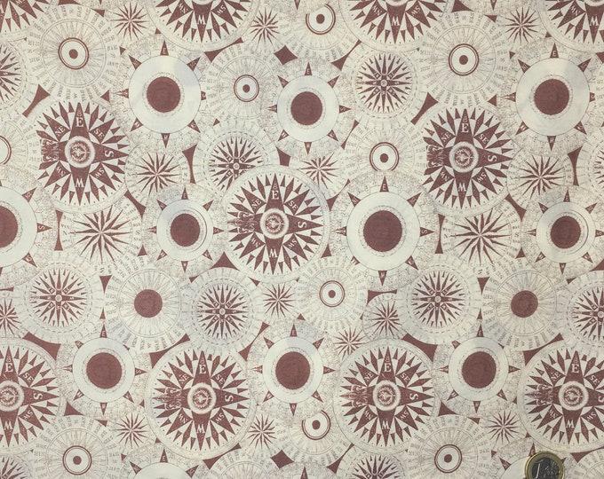 English Pima lawn cotton fabric, priced per 25cm, mappemonde