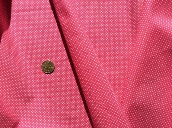 High quality cotton poplin dyed in Japan with 2mm polka dots dark pink