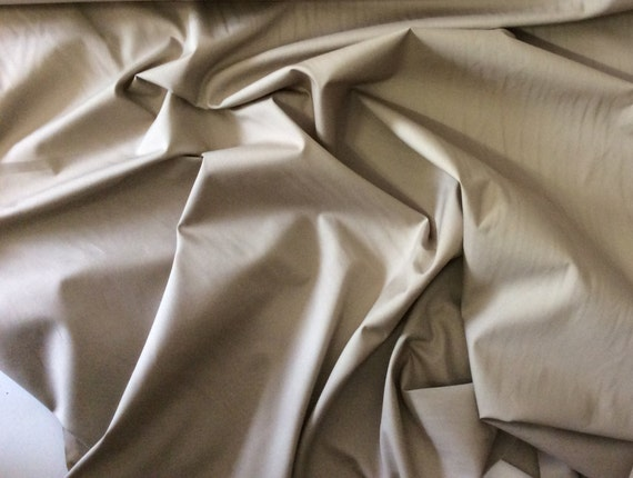 High quality cotton poplin dyed in Japan. Brown-beige no12