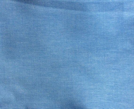 Blue and white oxford polycotton poplin