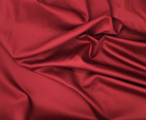 High quality cottOn sateen, dark red or bordeaux nr21