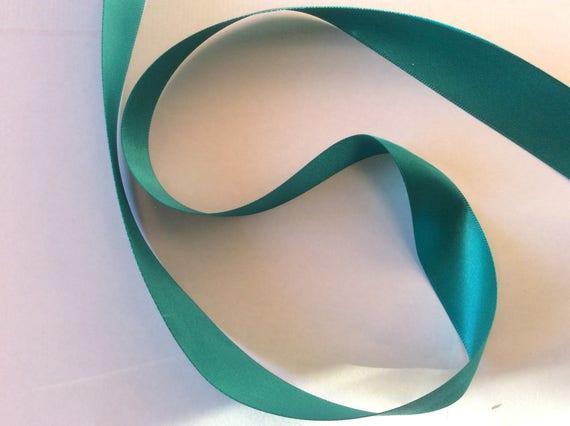 Dark lagoon green double sided sateen ribbon, No174
