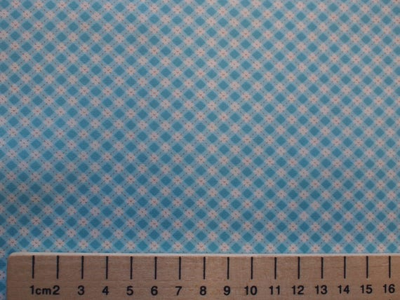 High quality cotton poplin, vintage turquoise checks