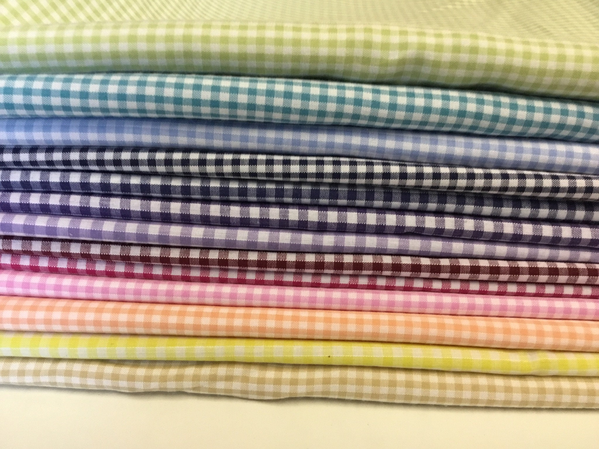 8m50 17pc, each 50cm*1m12 Check poly cotton fabric