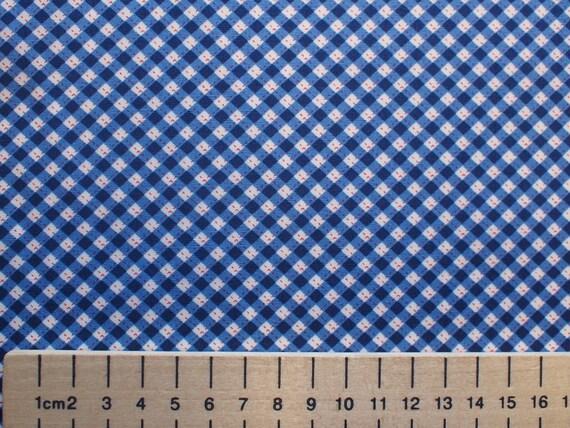 High quality cotton poplin, blue vintage checks