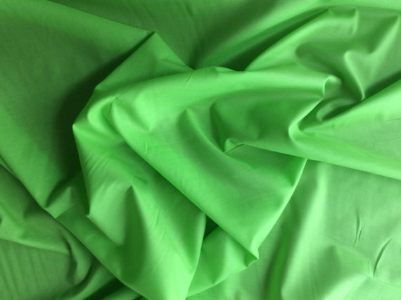 High quality cotton lawn dyed in Japan, apple green