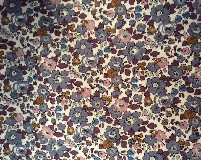 Tana lawn fabric from Liberty of London, Betsy Ann fig