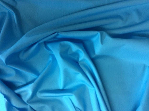 High quality cotton poplin dyed in Japan. Turquoise no71