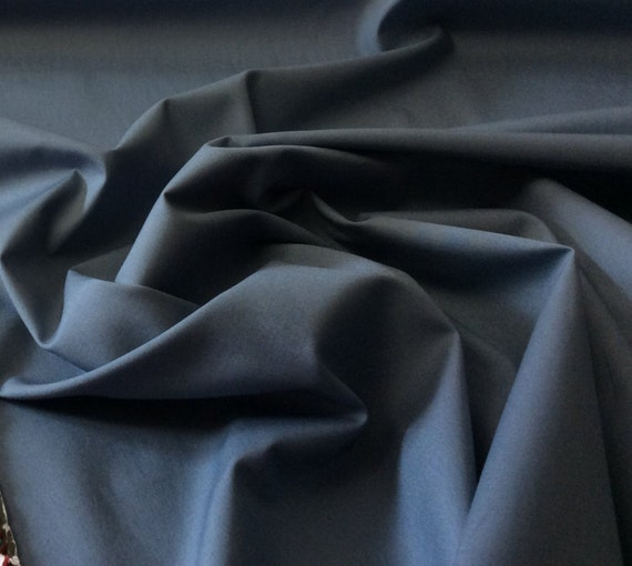 High quality cotton poplin dyed in Japan. Greyish blue no45