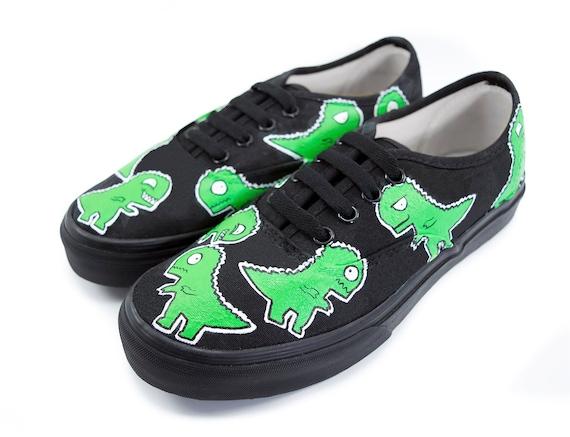 0426633477b3 T-Rex Cartoon Shoes Choose Vans or No Brand Vans Era Vans