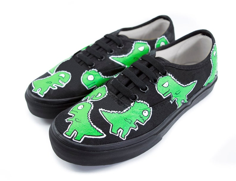 6450a7d7c5 T-Rex Cartoon Shoes Choose Vans or No Brand Vans Era Vans