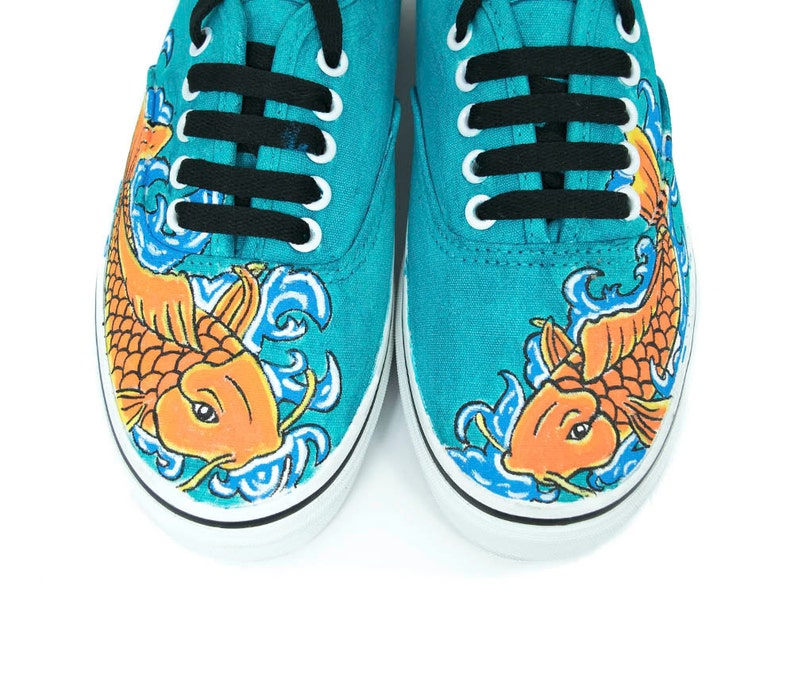 620fc6c507 Koi Fish Vans Custom Vans Adult Vans Kid Vans Blue