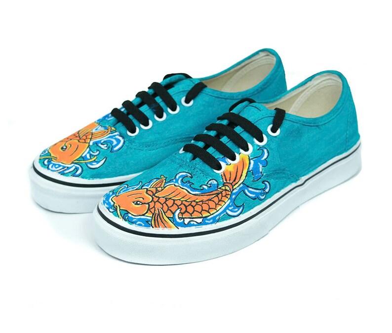 f6fae6c92bef Koi Fish Vans Custom Vans Adult Vans Kid Vans Blue