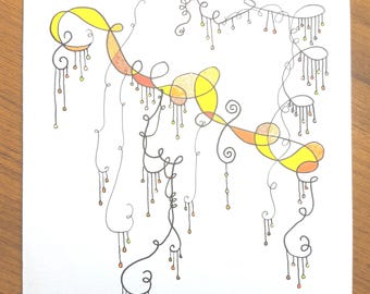 Gold & yellow Dangle design card