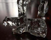 Stunning Baccarat crystal tiger figure paperweight