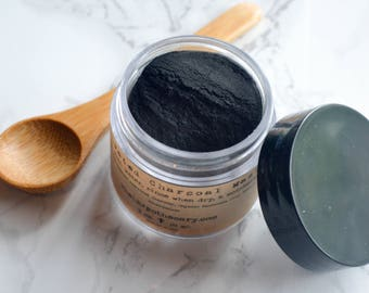 Activated Charcoal / Activated Charcoal Powder / Charcoal Mask / Clay Mask / Acne Soap / Acne Treatment / Bentonite Clay / Birthday Gift