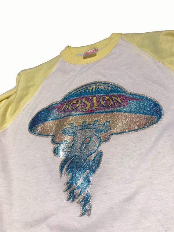 Vintage Boston Band T-Shirt Rare 1970s Concert Tee