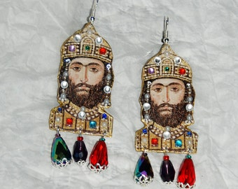 "Byzantium collection ""Emperor"" earrings"