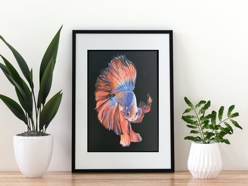 Giclée Art Print  'Flowing'  A4 size painting in image 0