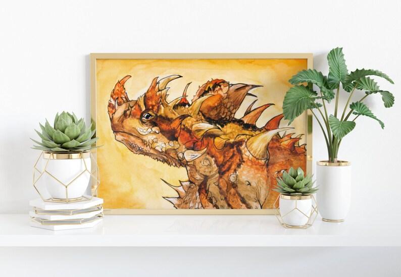 Giclée Art Print 'Scorched'  A4 size watercolor image 0