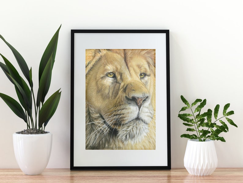Giclée Art Print 'Proud'  A4 size soft pastel image 0
