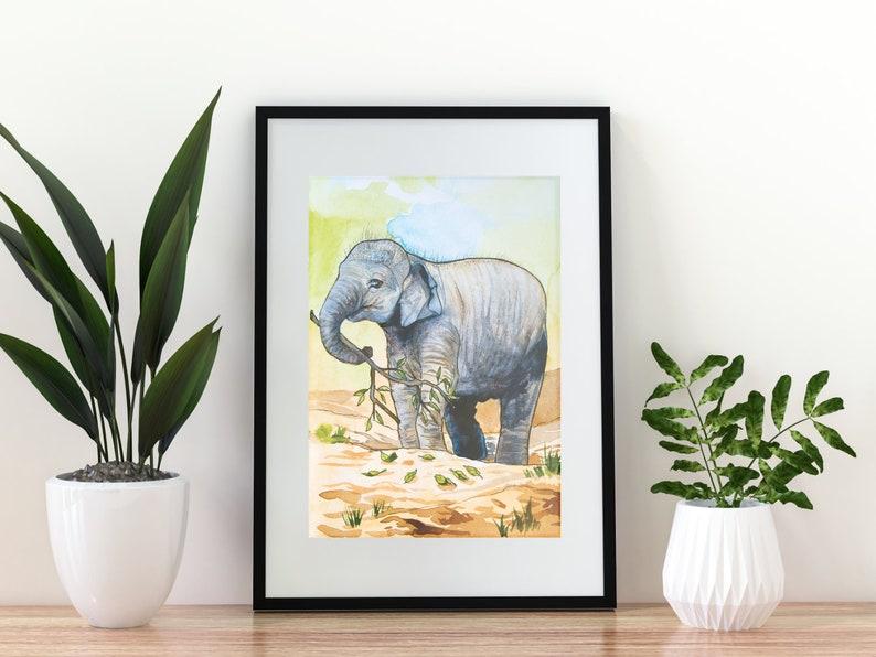 Giclée Art Print 'Precious'  A4 size watercolor image 0
