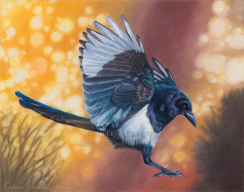 Dance  Original coloured pencil painting by Wild Portrait image 0