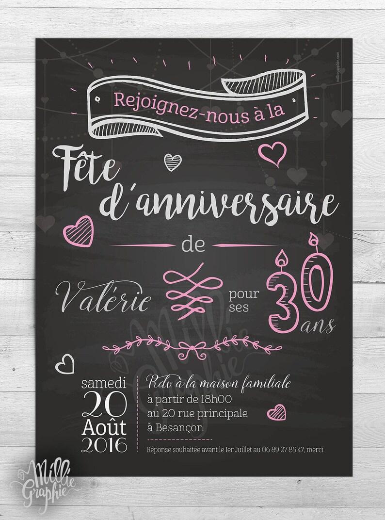Carte Anniversaire Romantique.Anniversaire Romantique Invitation Carte Faire Part Etsy