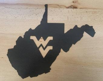 West Virginia University Metal Wall Art Plasma Cut Decor
