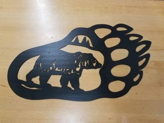 Plasma cut Bear Paw  Metal Wall Art Home Decor