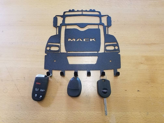 Mack Trucks keychain holder metal art plasma cut decor fob gift idea