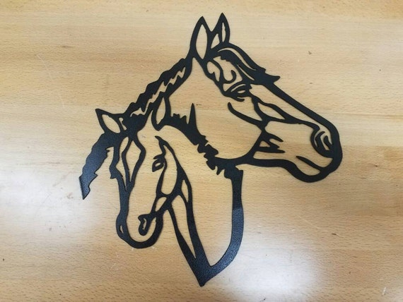 Horses metal wall art plasma cut decor | Etsy