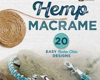 "Book ""Hemp Macramé"" - 20 Easy Boho Chic Designs, Macramé Book, DIY Macramé, DIY Hemp Macramé, DIY Jewelry Book, Diy Bracelet, Crafts Book"