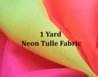 Neon Tulle Fabric for Cosplay Costume NEON CORAL Tulle Bolt #99 Neon Pink Tulle Roll Pink Tutu Tulle Decor Orange Tulle Wholesale Fabric