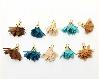 Tiny Tassels for Jewellery making tassel size 1.6cm  2cm 5 pcs Mini Tassels with Gold or Silver Plated Ring 5mm Colourful Tassels